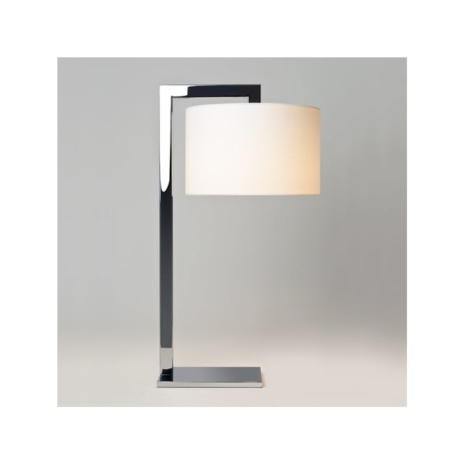 RAVELLO contemporary table lamp with shade (chrome)