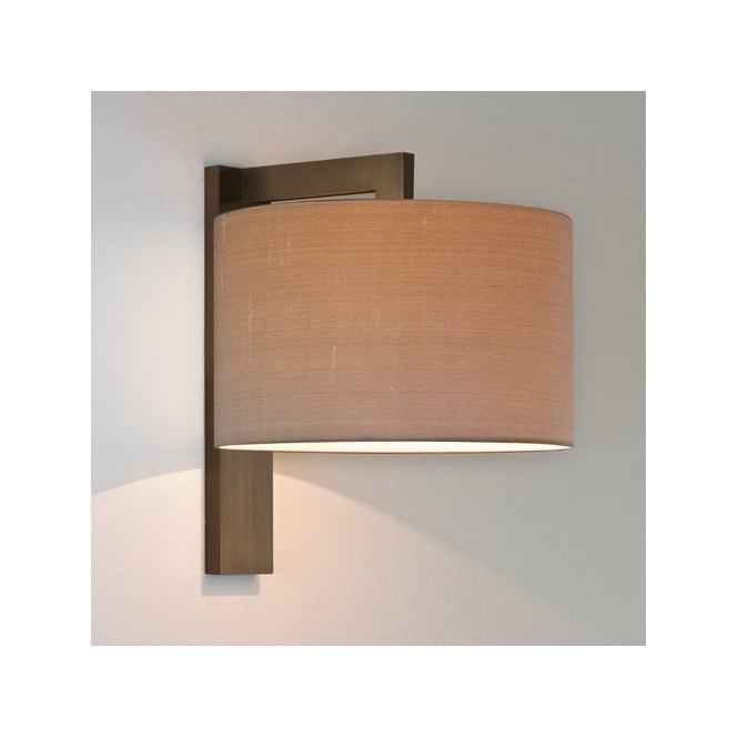 Contemporary Bronze Wall Light with Shade - Double Insulated.