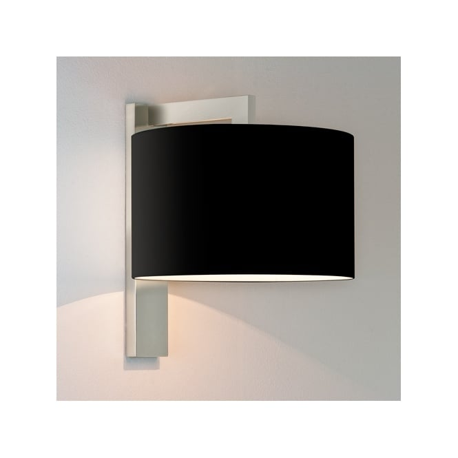 Astro RAVELLO contemporary wall light with shade (matte nickel)