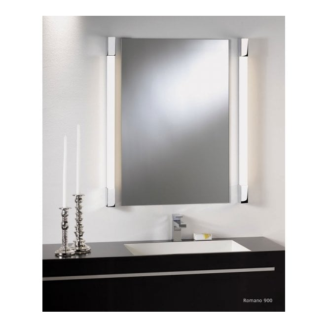 ROMANO modern chrome bathroom strip light