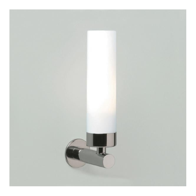 Astro TUBE LED contemporary polished chrome bathroom wall light with opal shade