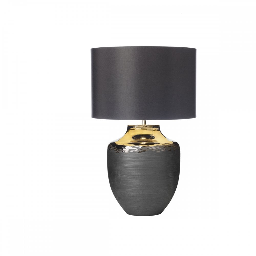 Ceramic Table Lamp In Black And Bronze Finish Lighting Company