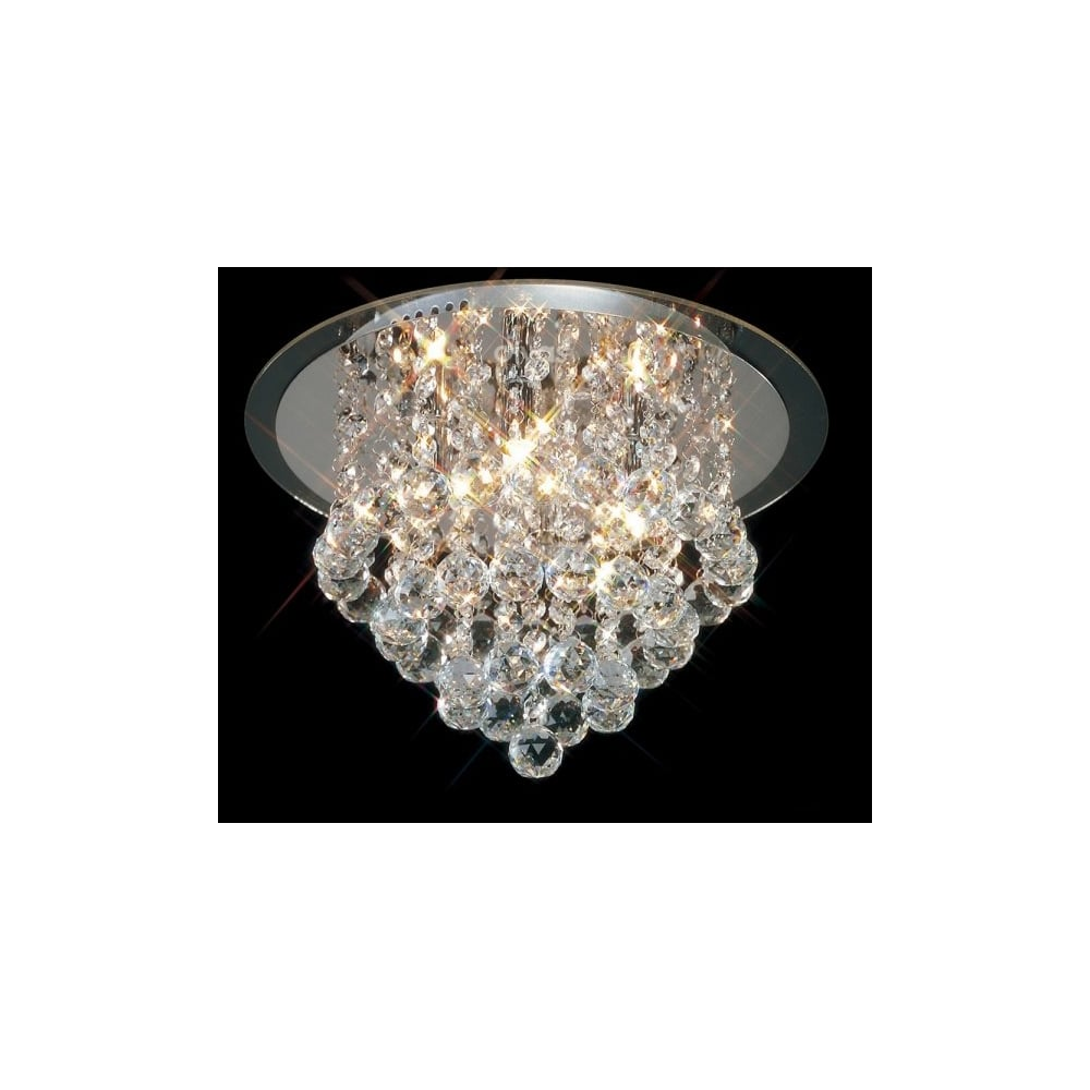 Atla chrome asfour lead crystal chandelier for low ceilings