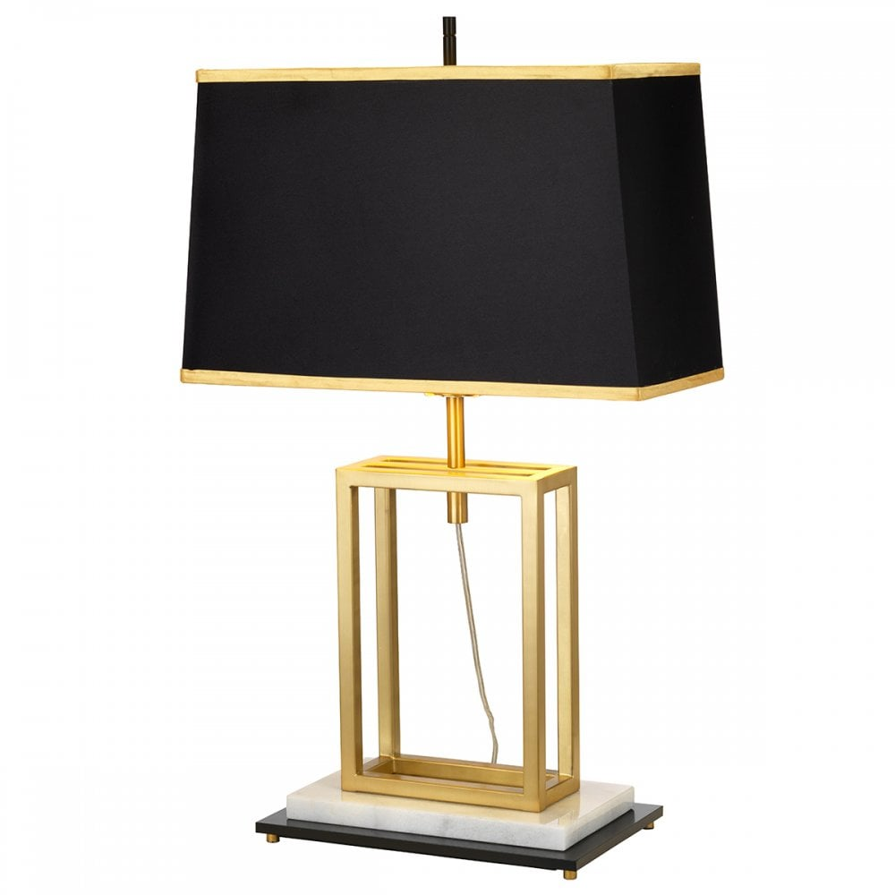 Table Lamp with Brass Shade