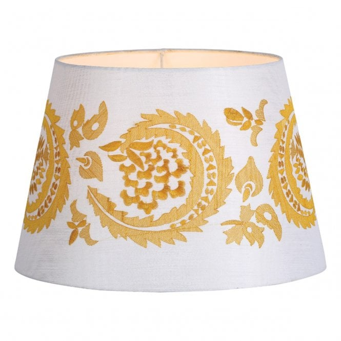 AUDNY stitch work lamp shade in ivory and gold