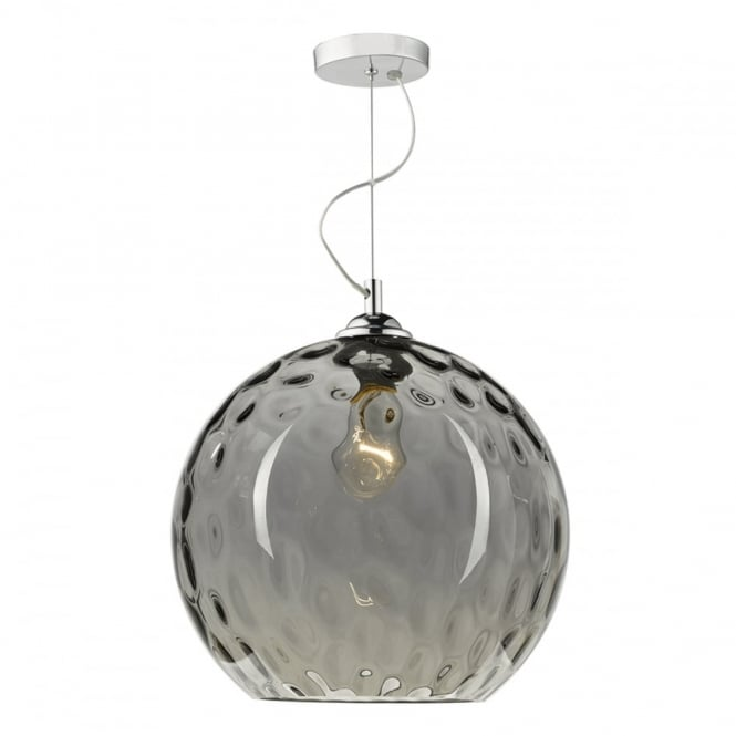 AULAX smoked glass dimple effect globe pendant