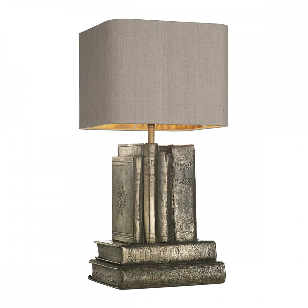AUTHOR rustic table lamp in bronze with truffle shade