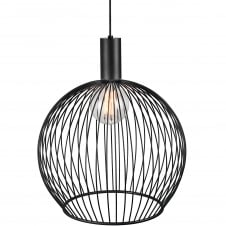 modern black wire frame globe pendant light