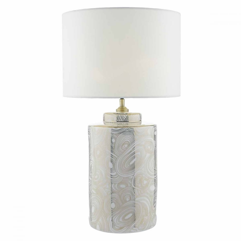 White And Gold Decorative Ceramic Table Lamp Base