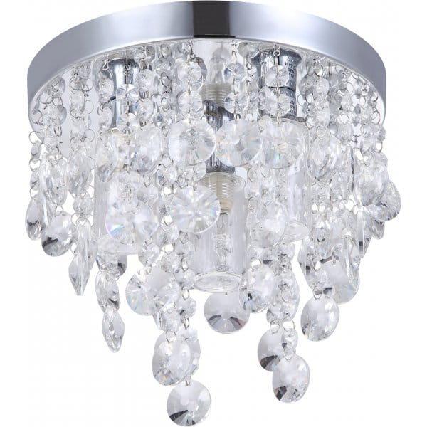 Decorative Contemporary Bathroom Ceiling Light With Glass Droplets