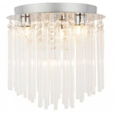URSA decorative chrome and clear glass bathroom chandelier ceiling light