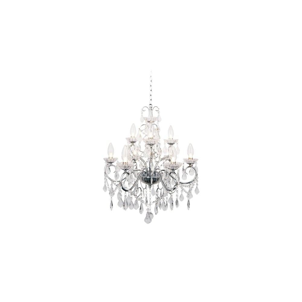 traditional chrome  u0026 glass bathroom chandelier