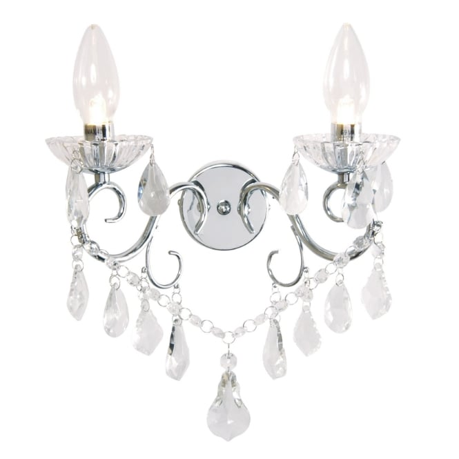 Bagno VELA traditional crystal and glass decorative bathroom wall light