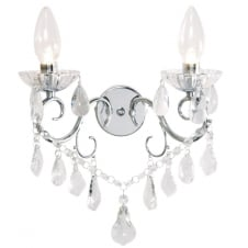 VELA traditional crystal and glass decorative bathroom wall light