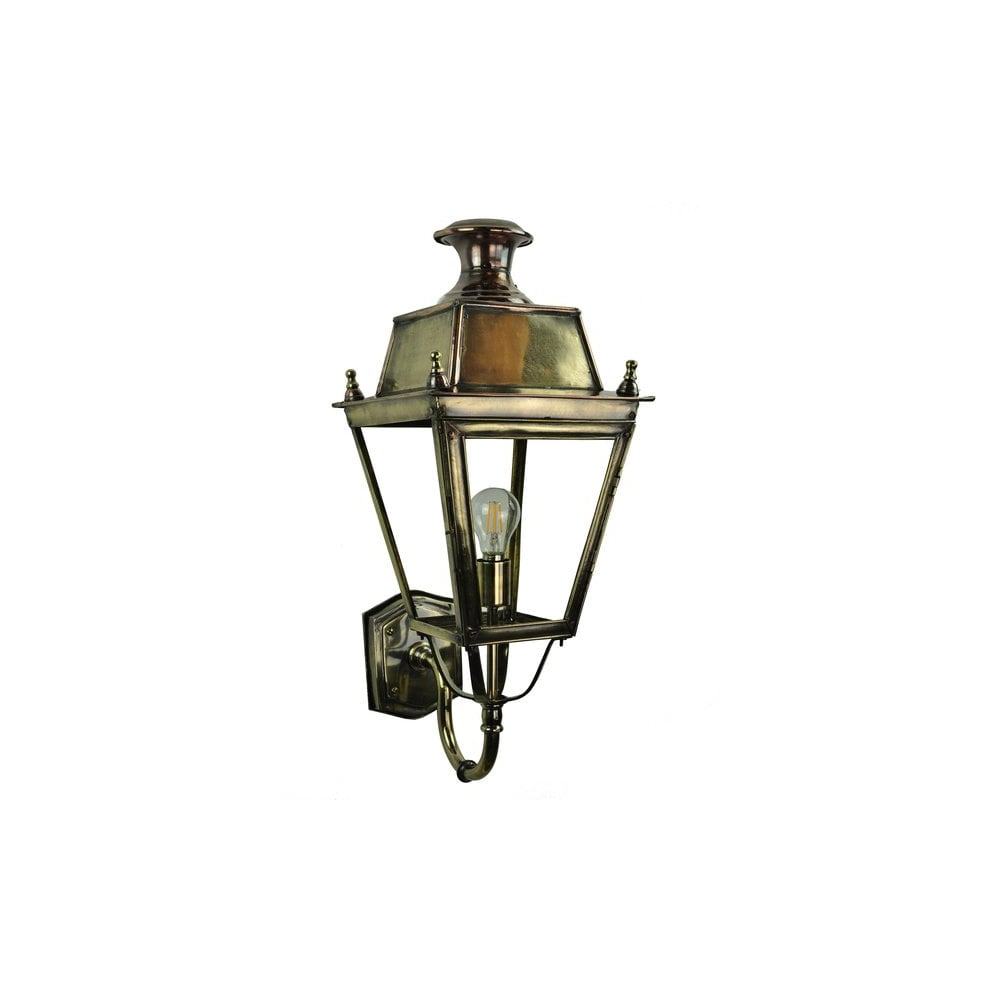 Balmoral Tall Pedestal Lantern Light Antique Brass: Traditional Victorian Brass And Copper Exterior Wall