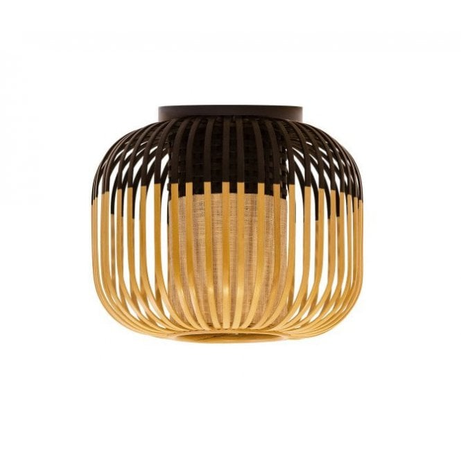 Xs natural bamboo frame flush ceiling light black lighting company flush fit bamboo ceiling light in natural and black aloadofball Images