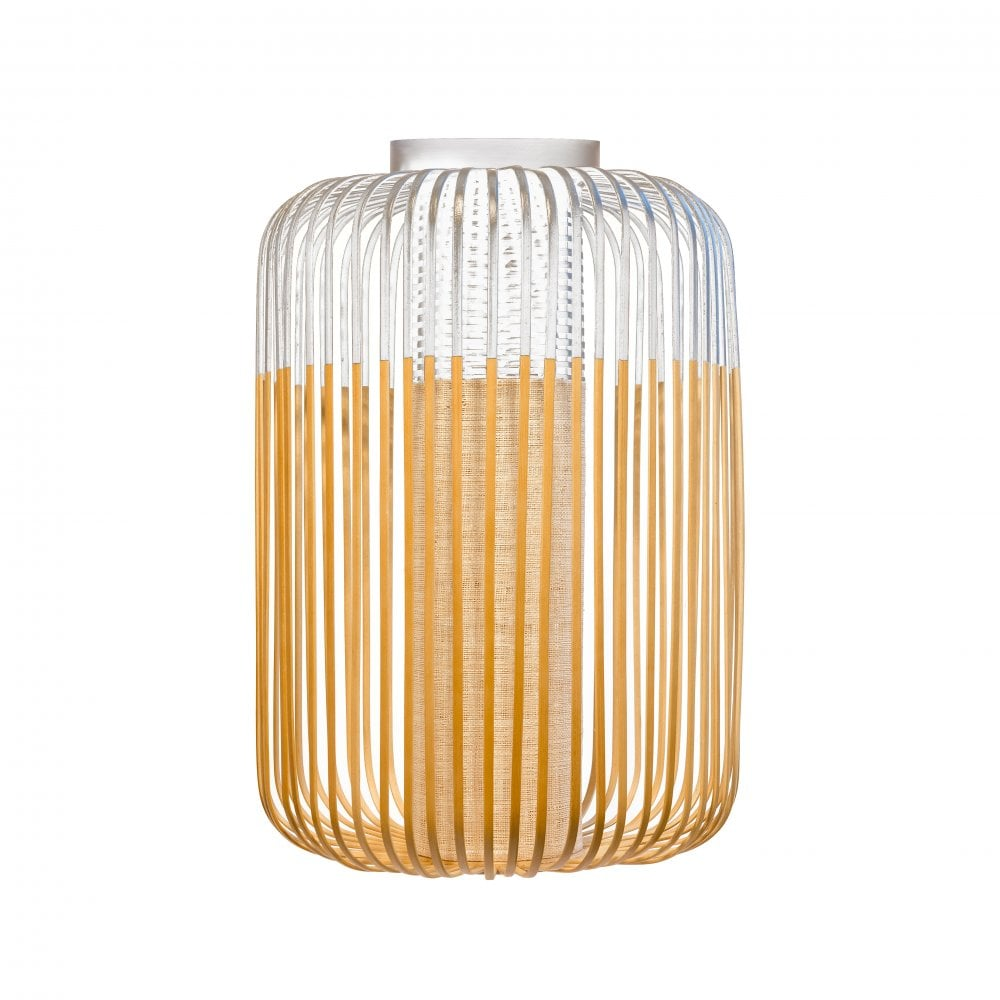 Large bamboo frame flush ceiling light with white lighting company flush fit bamboo ceiling light in natural and white aloadofball Images