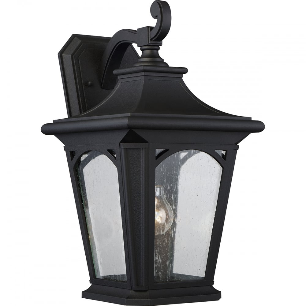 Outdoor Lighting Company: Large Traditional Outdoor Wall Lantern A Black With Seeded