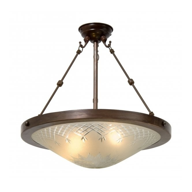 Ceiling Lights Glass Shades : Tradtional period style uplighter ceiling pendant light with glass shade