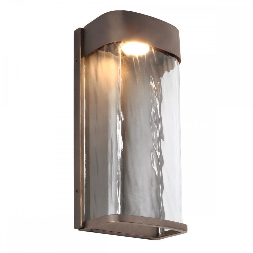 Contemporary Antique Bronze Led Outdoor Wall Light Lighting Company