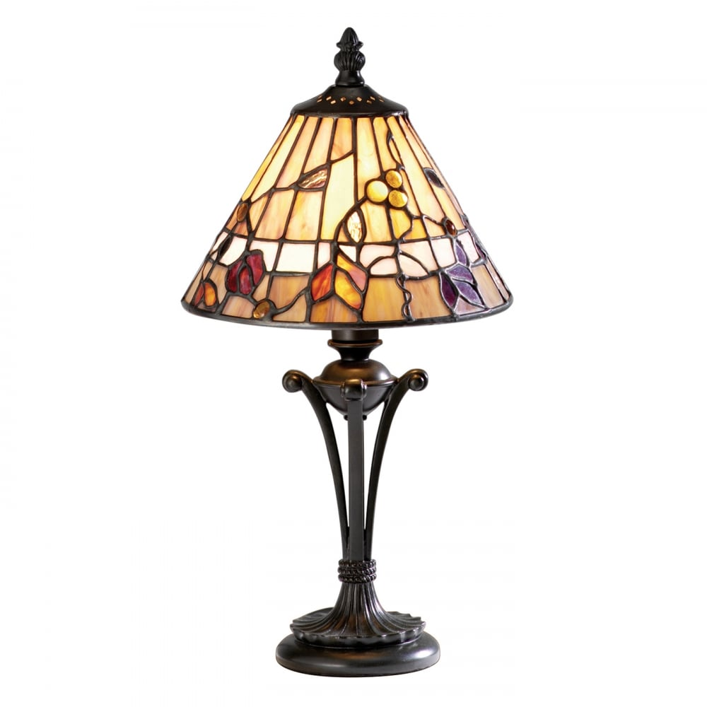 Buy small tiffany stained glass table lamp warm earth colours bernwood small tiffany glass table lamp aloadofball Choice Image