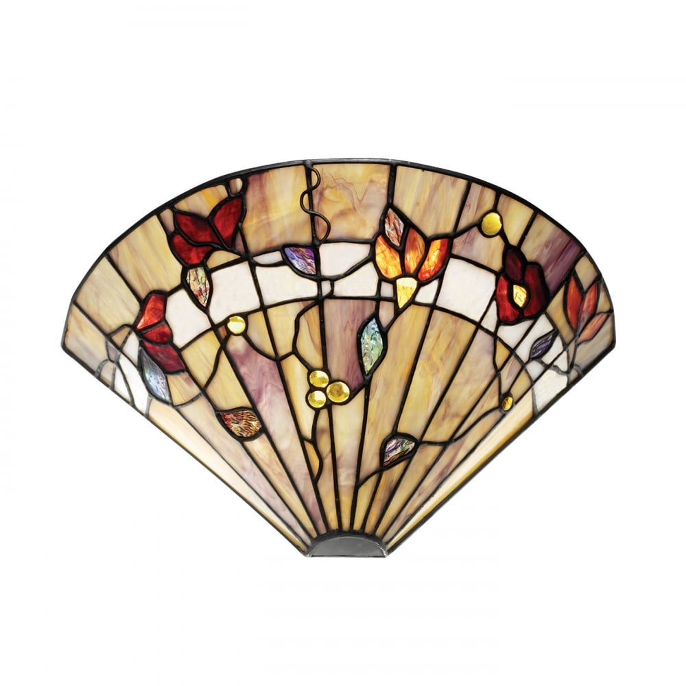 Tiffany Uplighter Wall Washer Wall Light In Natural Earth Colours