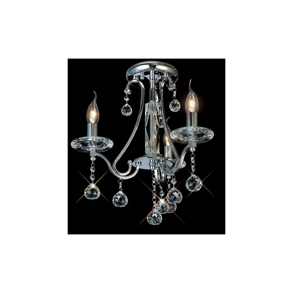 Buy crystal chandeliers traditional candelabra lights for low ceilings bianco 3 light chrome asfour crystal chandelier for low ceilings aloadofball Choice Image