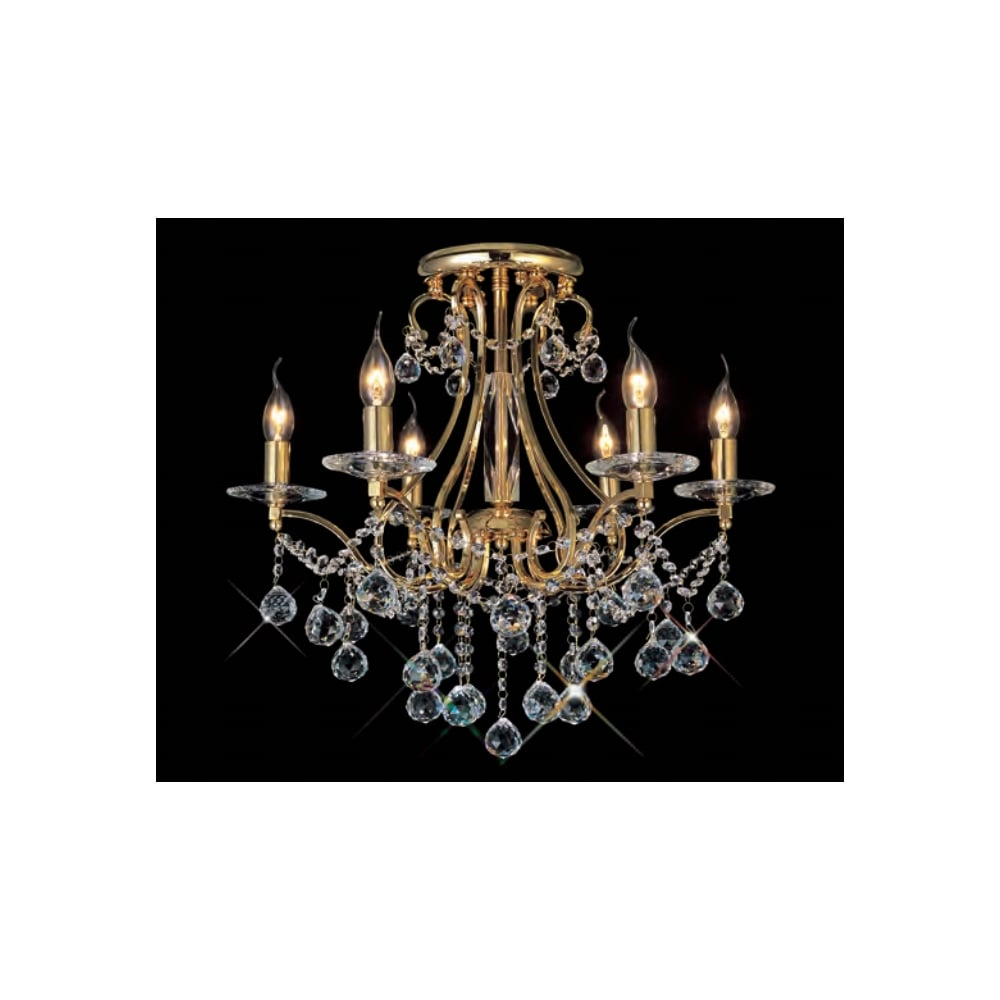 Gold plated crystal chandelier light fitting semi flush bianco gold plated asfour crystal chandelier for low ceilings aloadofball Choice Image