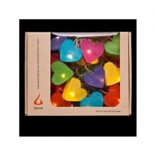 LIGHT STRING radiant hearts in mix of colours (20 lights)