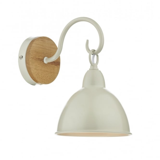 Rustic wall light in cream with wooden wall rose double insulated blyton rustic style wall light aloadofball Gallery
