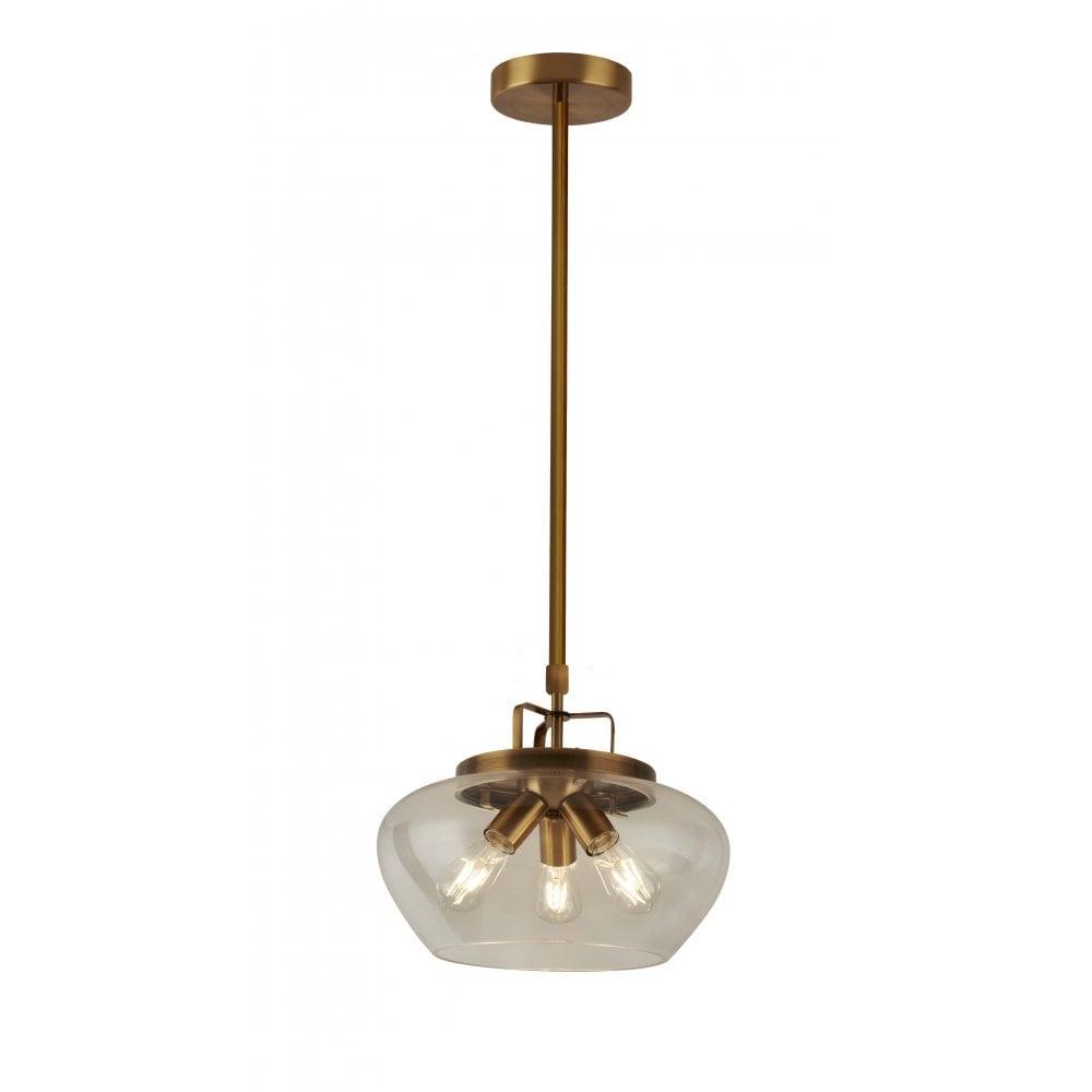 Arden Collection 3 light Antique Bronze Chandelier