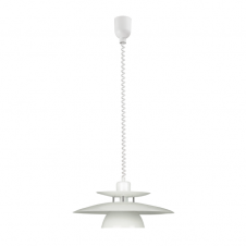 BRENDA white rise and fall ceiling pendant (3 tier)