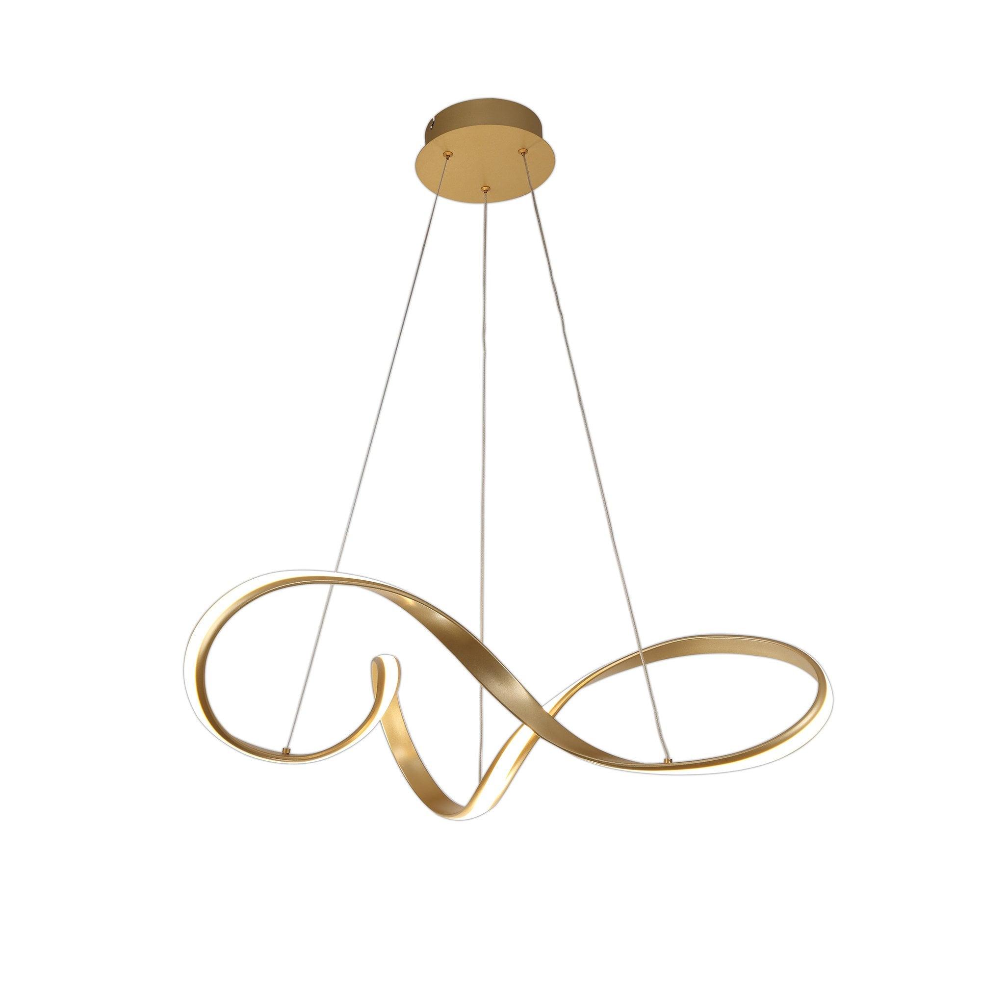 1 Light Ceiling Pendant Sand Gold Large