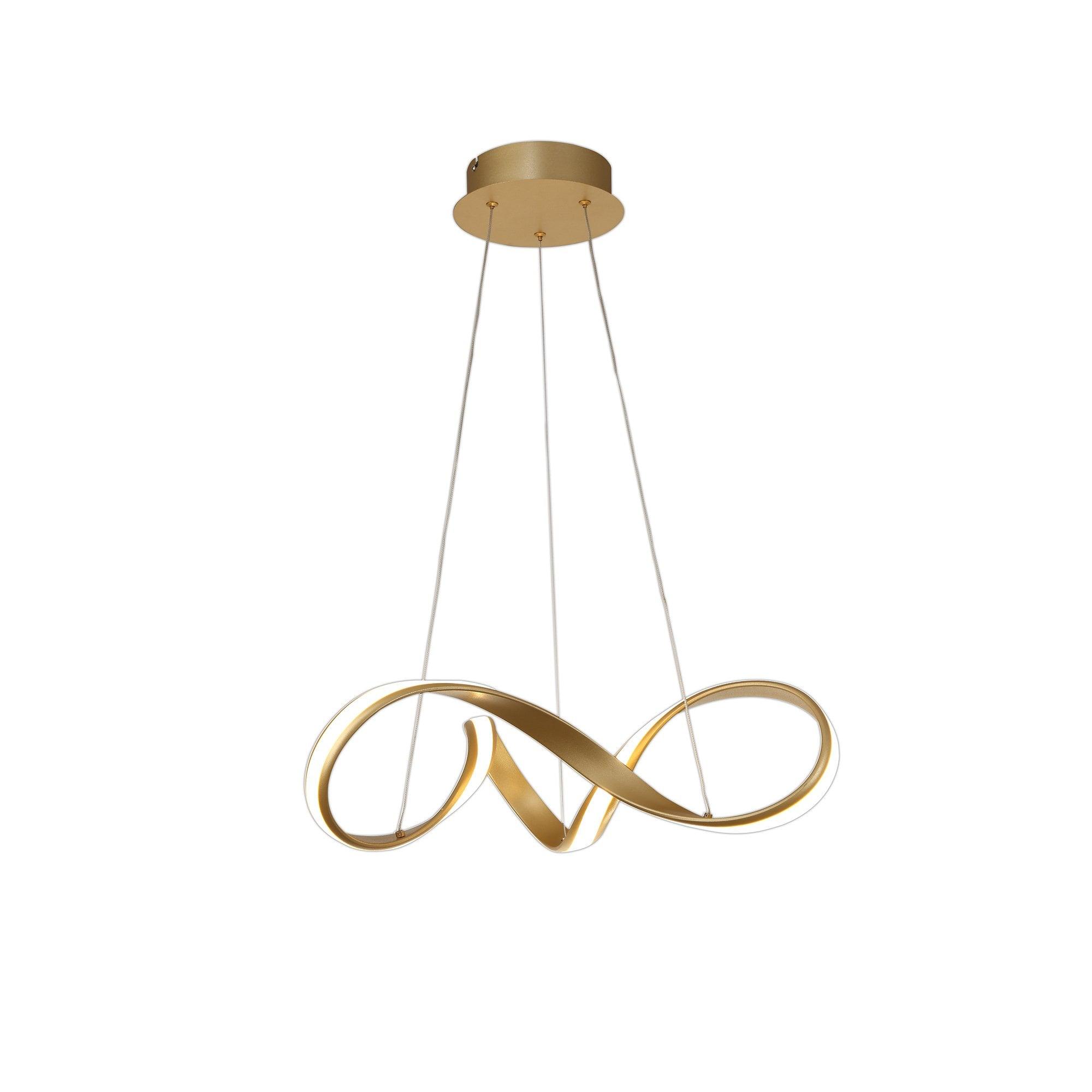 1 Light Ceiling Pendant Sand Gold Small