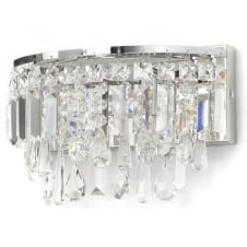 chrome and crystal bathroom chandelier wall light