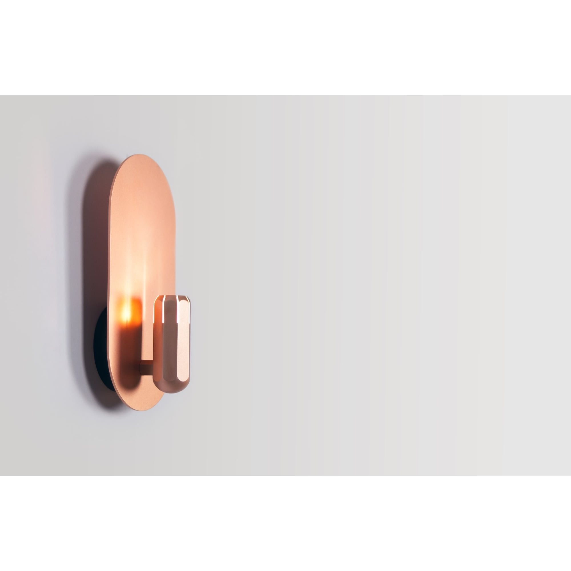 BRIXTON WALL modern LED wall light in copper