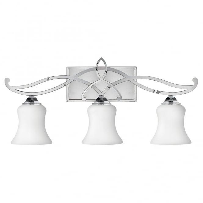 Modern Traditional Bathroom Over Mirror Light Chrome W Opal Glasses