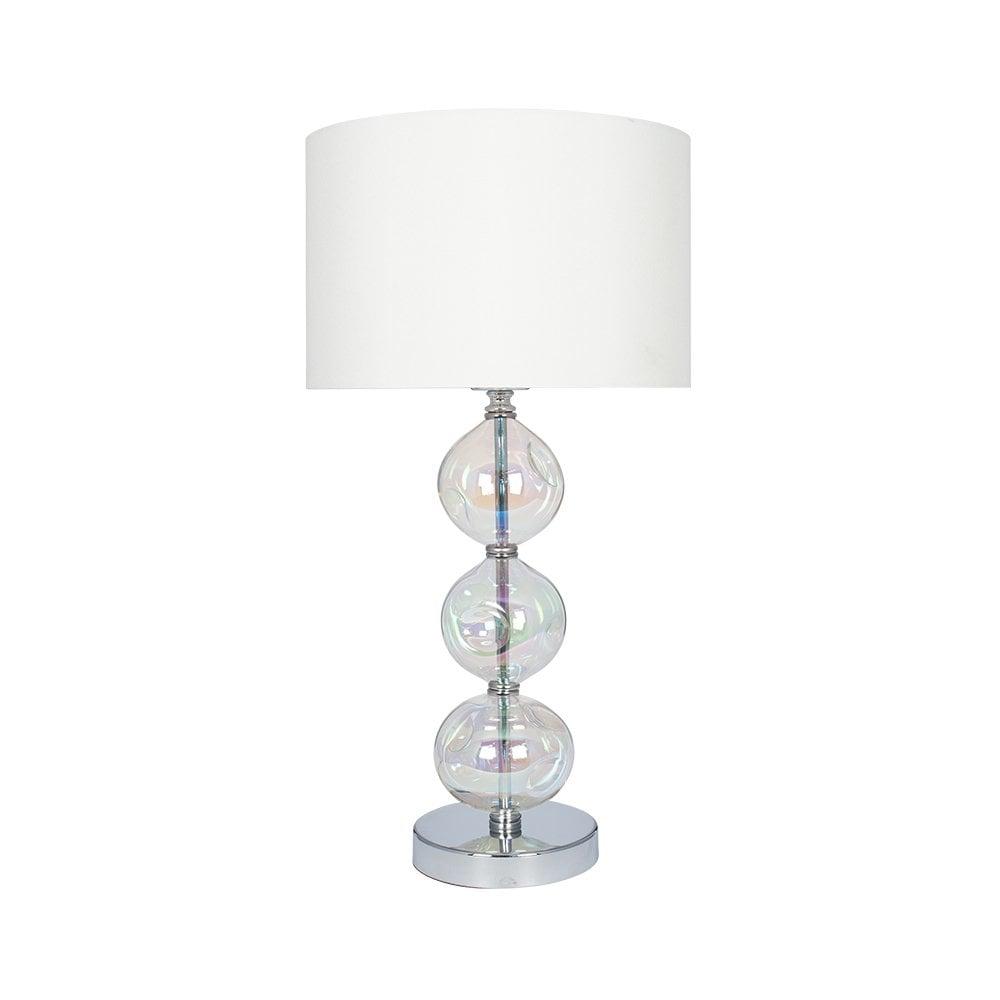 Bubble Iridescent Glass Table Lamp Cream Shade Lighting Company Uk