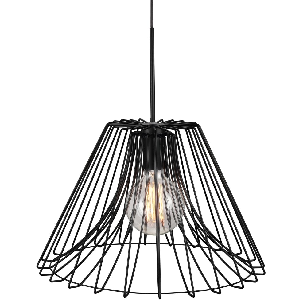 Matt Black Wire Frame Ceiling Pendant Light