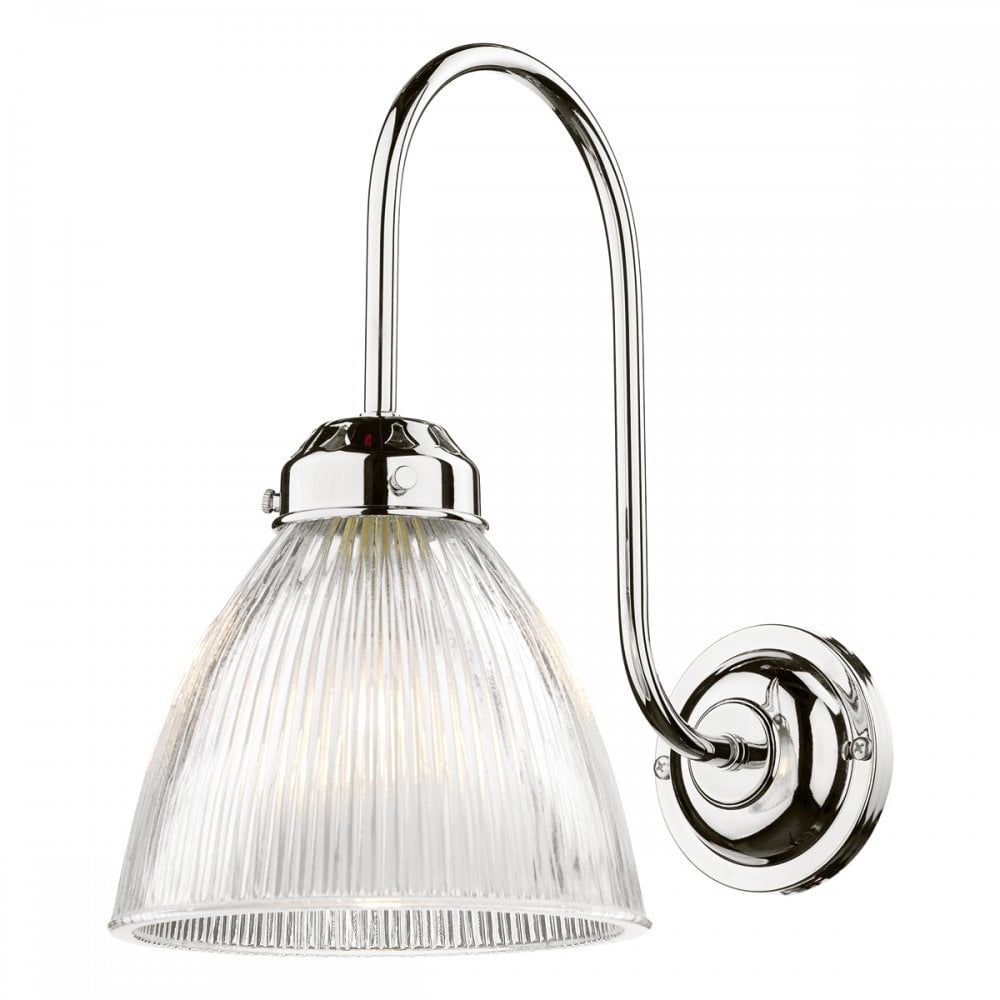 save off 7cbc8 abb09 CAMBRIDGE Wall Light Chrome complete with Glass Shade