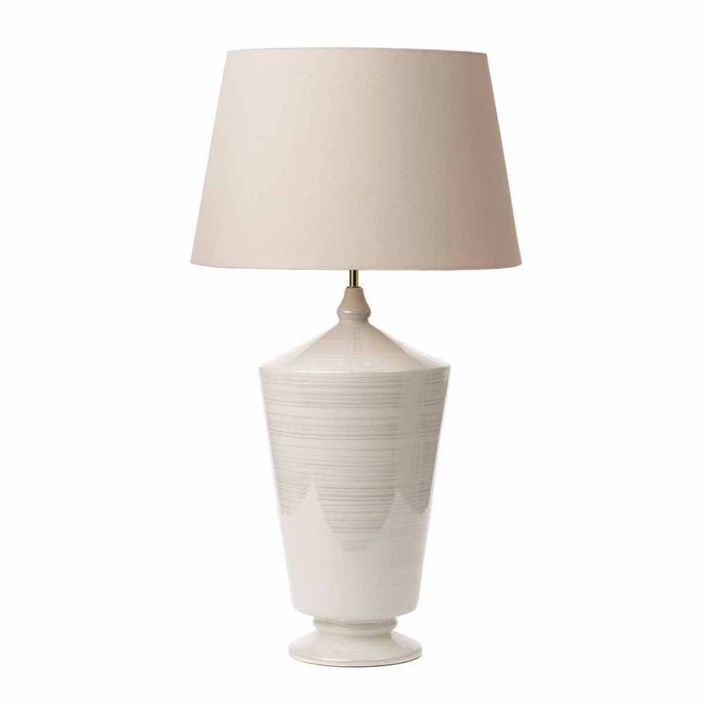Ivory Ceramic Table Lamp Base With Iridized Finish