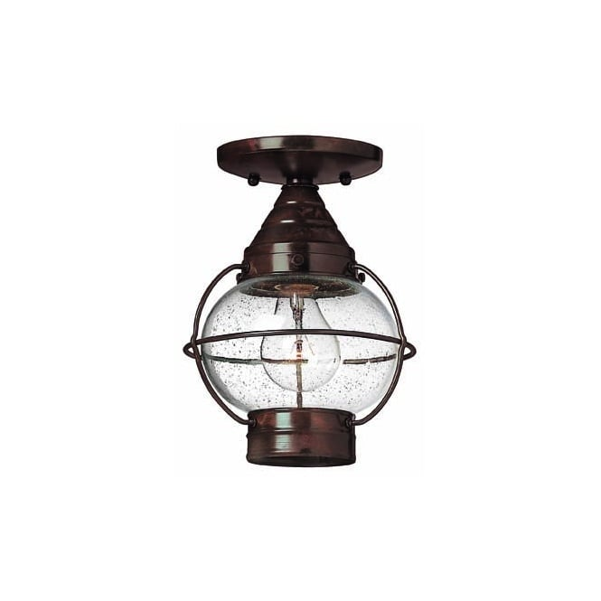 Nautical porch light flush fitting traditional rustic bronze finish cape cod flush fitting bronze porch light aloadofball Choice Image