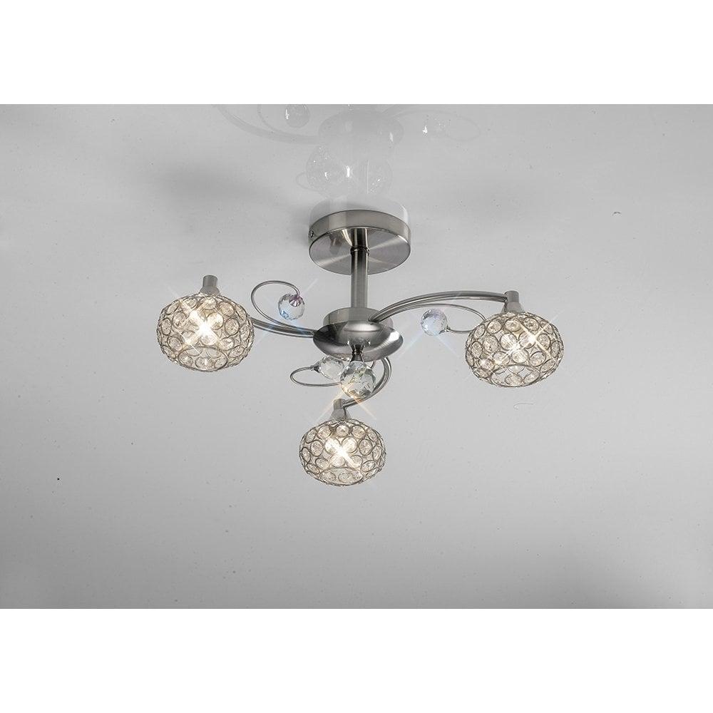 Cara 3 Light Semi Flush Ceiling Light Lighting Company