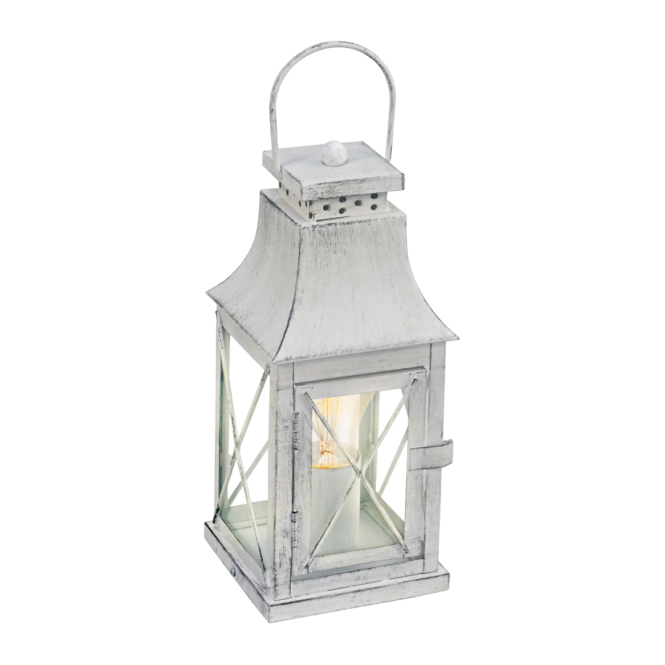 Traditional Grey Lantern Table Lamp Double Insulated Class 2