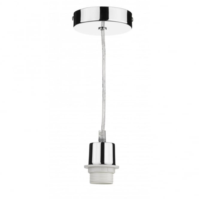 Chrome Pendant Light Suspension Set To Fit ES Bulbs