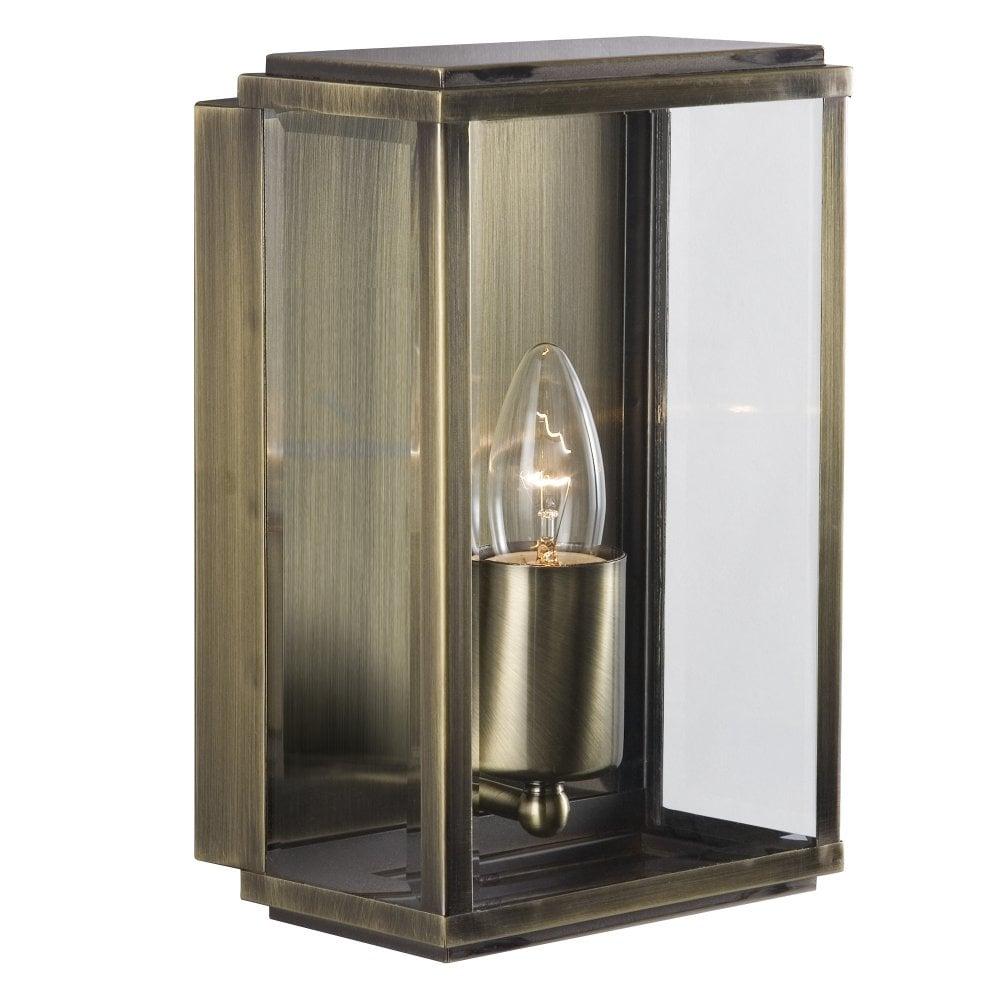 Modern Classic Antique Brass Exterior Box Lantern