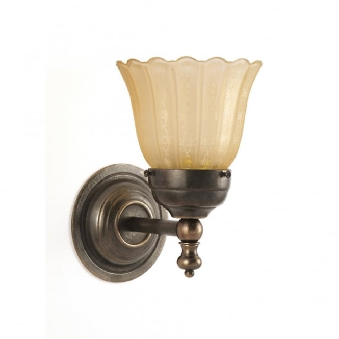 Classic British Lighting ASHBY compact single wall light in aged brass