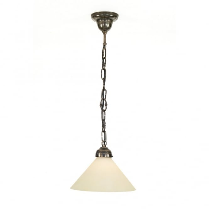 Classic British Lighting CEILING PENDANT traditional pendant light in aged brass