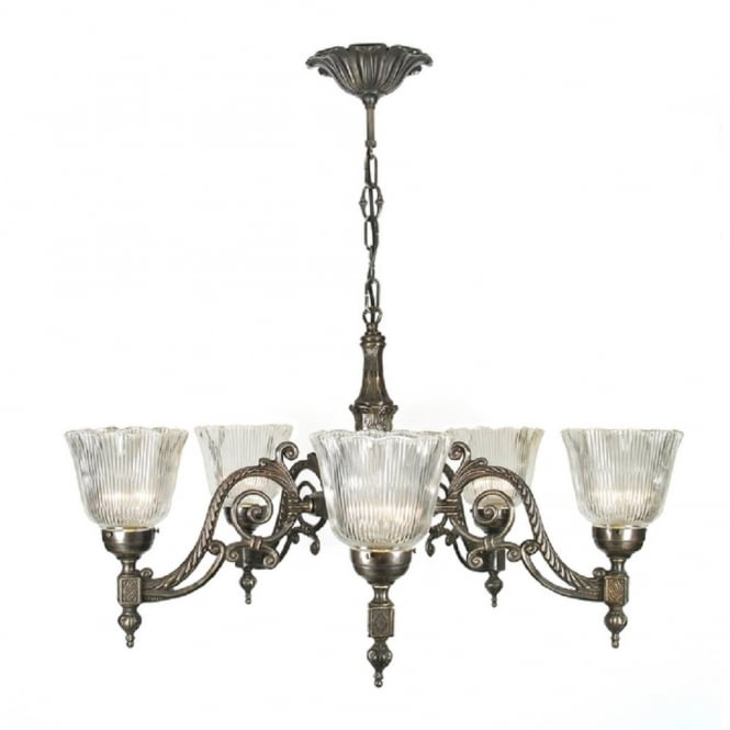 Victorian or edwardian aged brass chandelier with halophane shades chandelier traditional aged brass with halophane glass shades aloadofball Image collections
