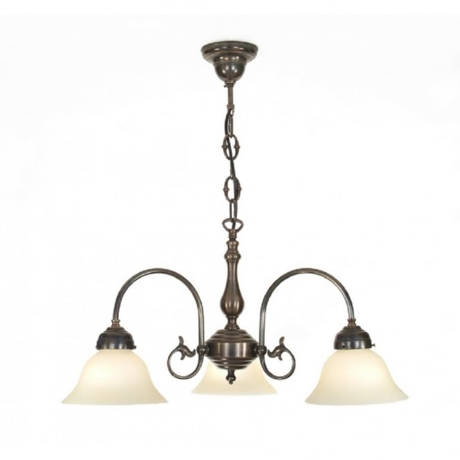 Classic British Lighting FREDA 3 light Victorian ceiling pendant